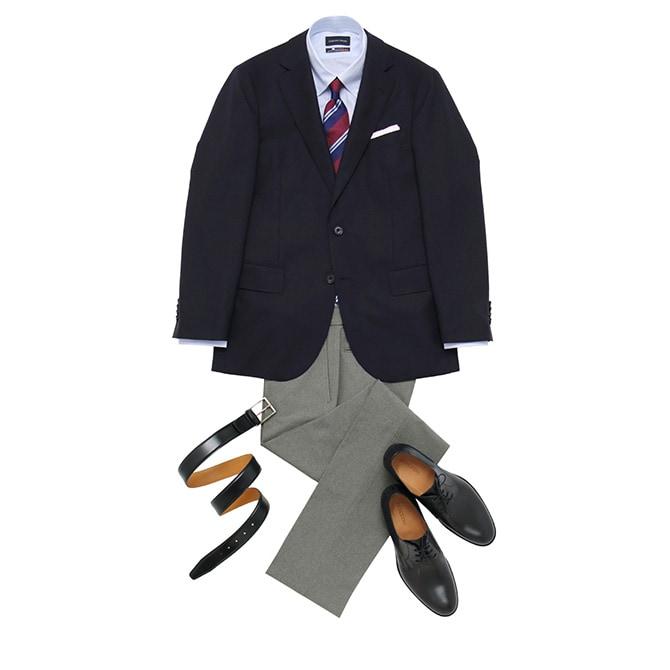 『紳士服の青山』がガイドマップとして提案する中にも、ジャケパンスタイルが。初心者の方はぜひ参考にしてみて下さいませ。