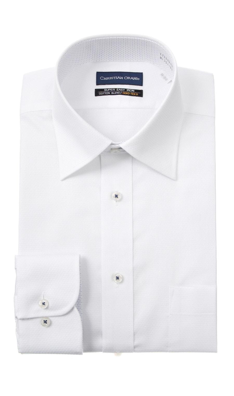 CHRISTIAN ORANIワイドカラースタンダードワイシャツ