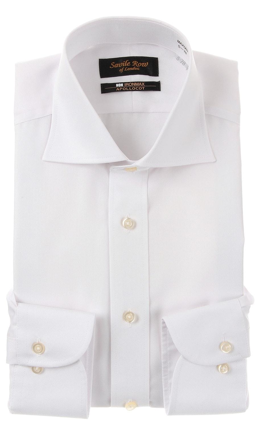 Savile Rowワイドカラースタンダードワイシャツ/NON IRONMAX